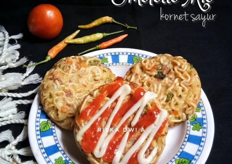Omelette Mie Kornet Sayur