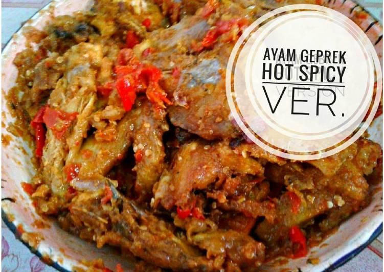 Ayam geprek hot spicy ver