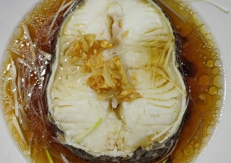Steamed snow fish