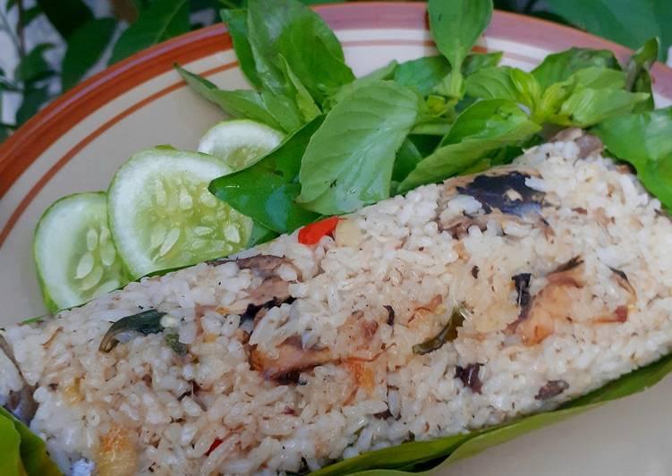 Resep Nasi Bakar menggunakan nasi sisa , Enak