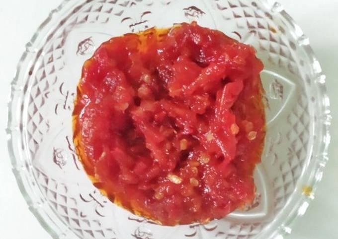 Resep Sambal Goreng (tanpa bawang merah) Anti Gagal