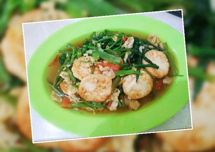 Cah Kangkung Telur Tofu