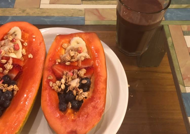 Papaya açaí bowl