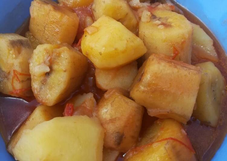Recipe: Tasty Matoke & Potato stew