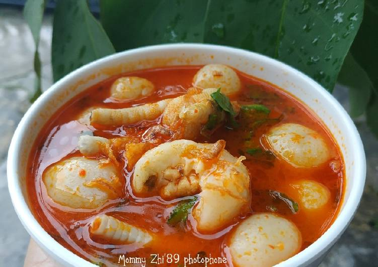 Resep Bakso Aci Kuah Pedas Oleh Welly Herlina Mommy Zhi 89 Cookpad