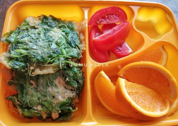 Resep DIET MAYO DAY 3 (lunch) Dadar telur bayam