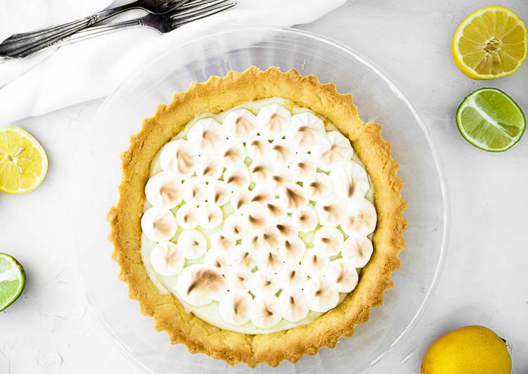 Recipe of Speedy Lime and lemon tart