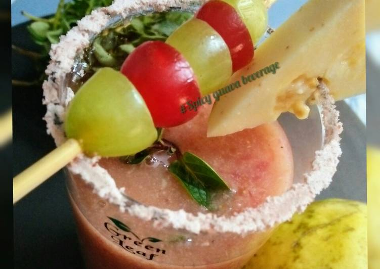Easiest Way to Prepare Homemade Spicy guava beverage