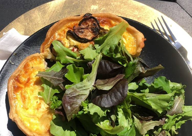 Comment Servir Mini Quiche courgettes feta
