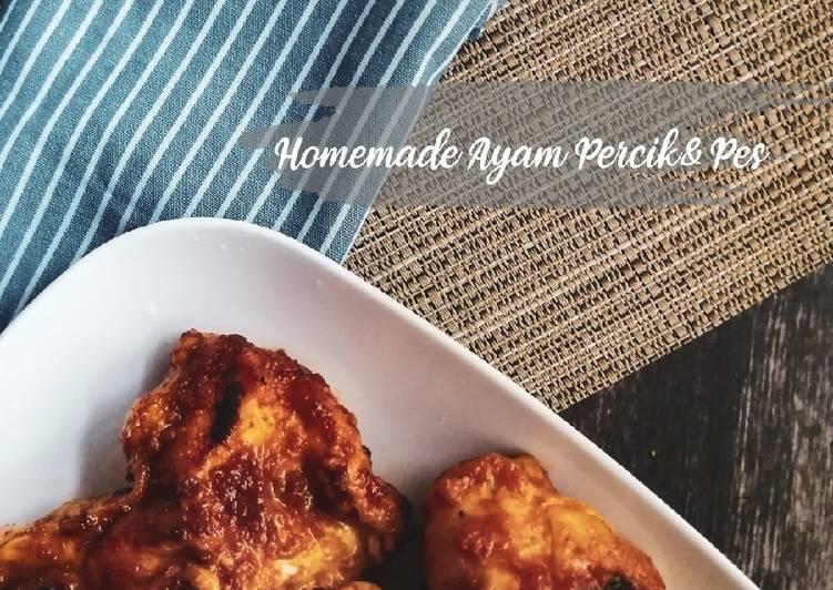 Ayam Percik dan Pes stail Utara (homemade) - velavinkabakery.com