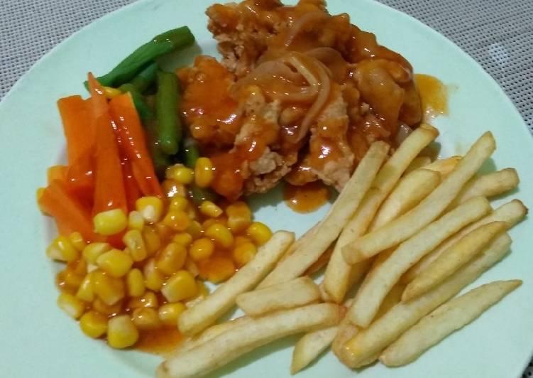 Chicken steak ala²