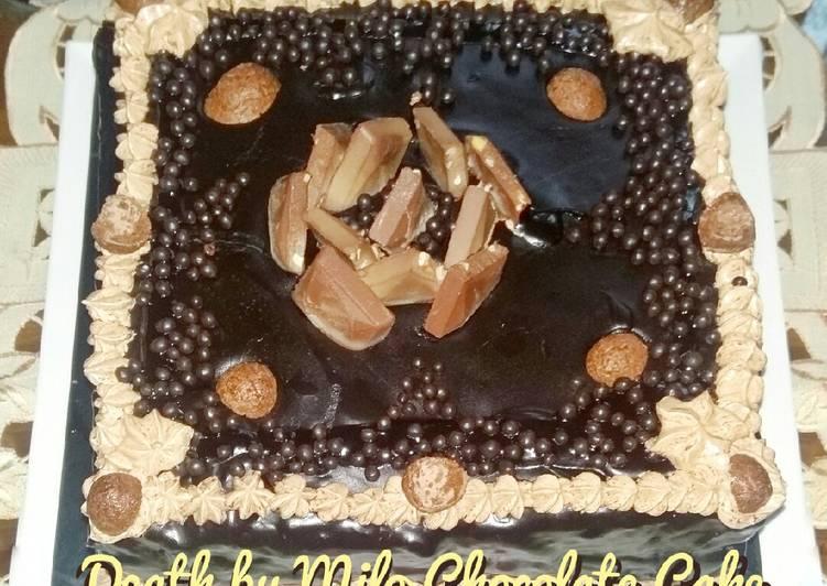 Death by Milo Chocolate Cake