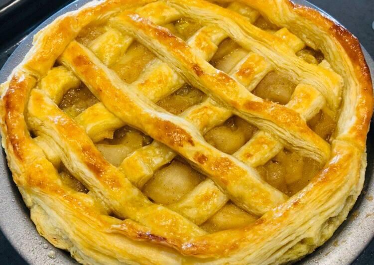 Recipe of Speedy Japanese Apple Pie (with custard)