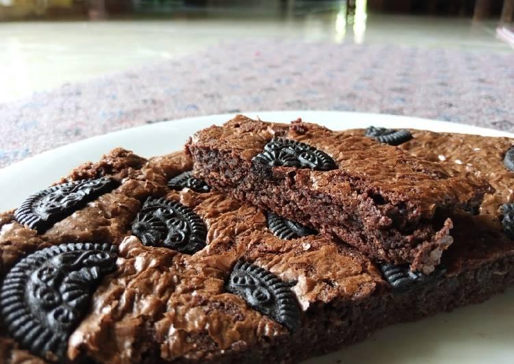 Bagaimana Menyiapkan Brownies panggang shiny, Enak