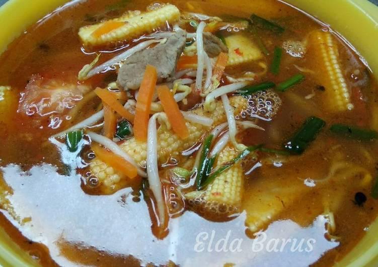 Tumis jagung muda+wortel+toge