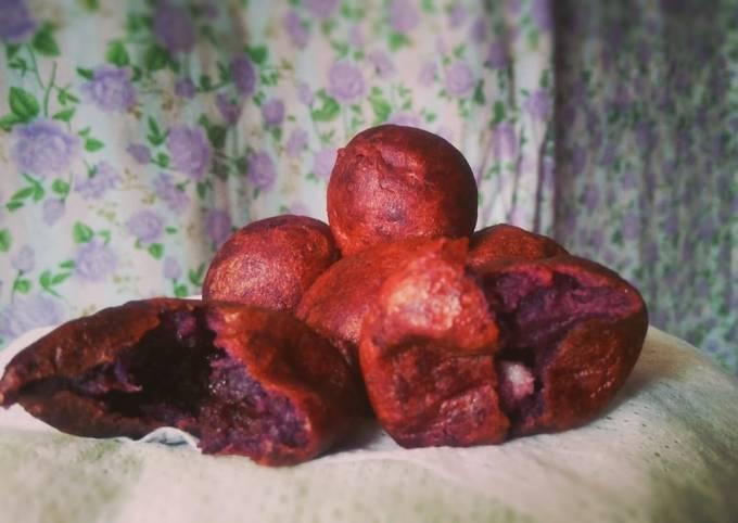 Bola-bola ubi isi coklat dan keju