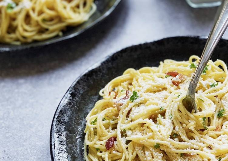 Recipe: Delicious Spaghetti Carbonara