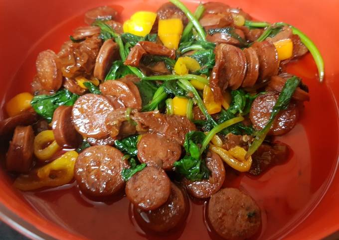 My Mild Chorizo with sun dried tomatoes and Peppers