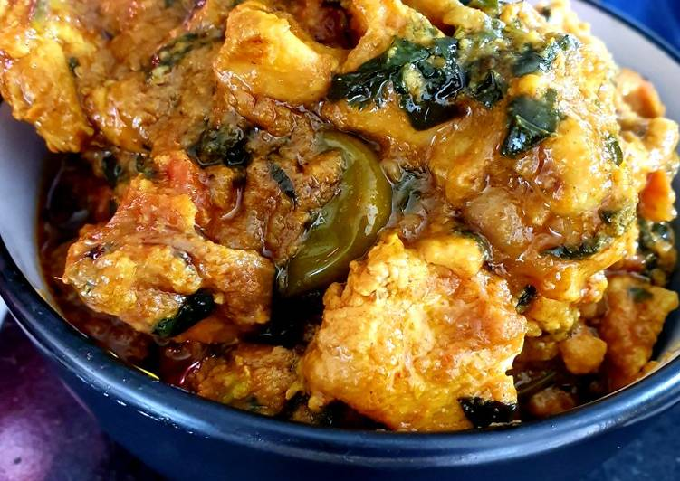 My chicken and spicey spinach curry 👌🌶🤤👍🍗