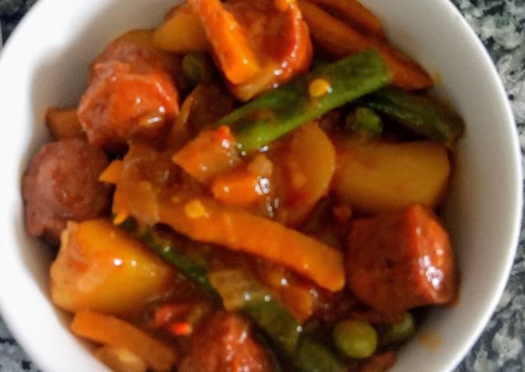 Sausage vegetable stir fry