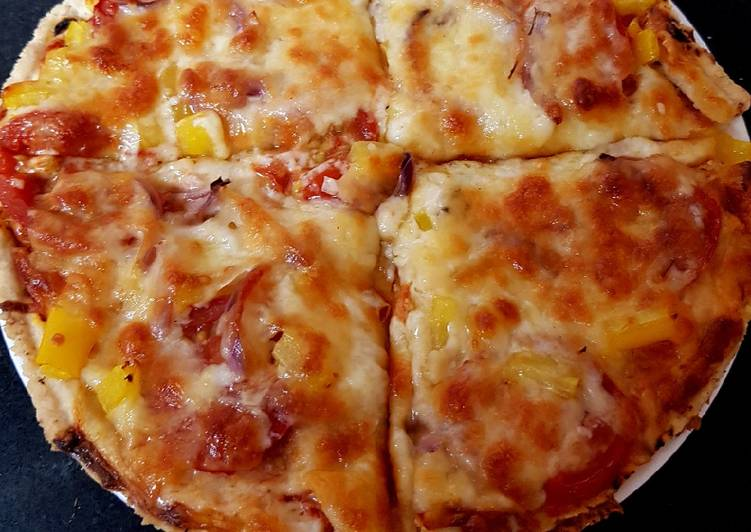 Recipe: Perfect My little Alfrado Pizza with 2 Cheese & Tomato 😘