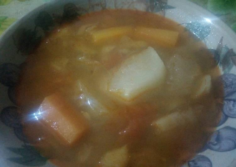 Soupe des légumes