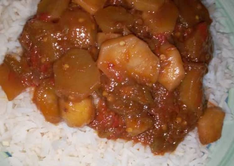 White Rice And Potato Stew