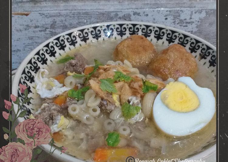 SOTO BANJAR SEDERHANA | Daging Ayam Cincang, Tanpa Susu