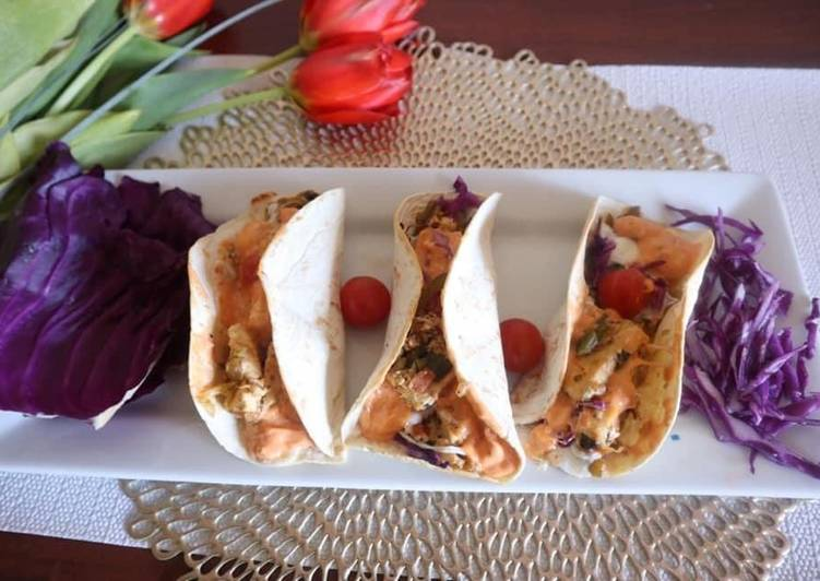 Paneer stuffed Tacos