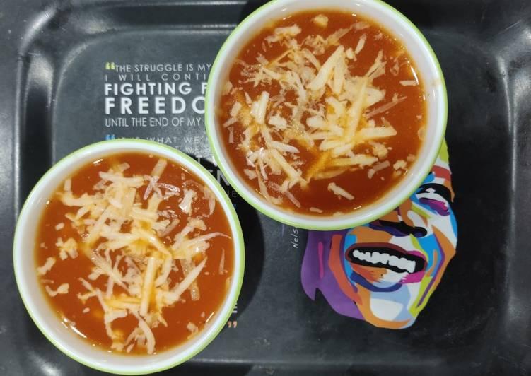 Recipe of Super Quick Homemade Tomato corn cheese soup