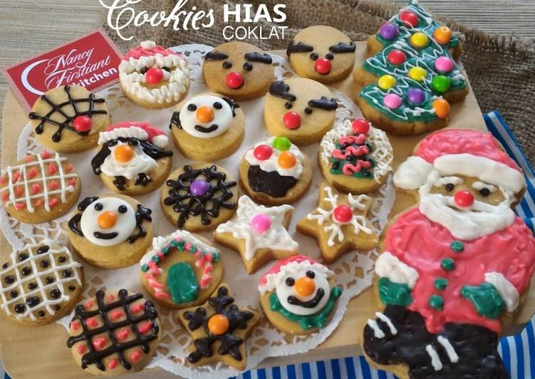 Cookies Hias Coklat Leleh