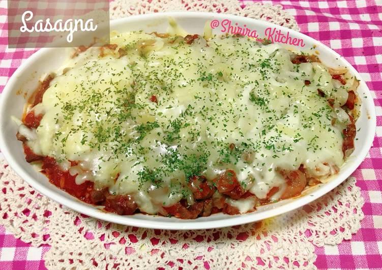 Lasagna terong dan kulit lumpiah