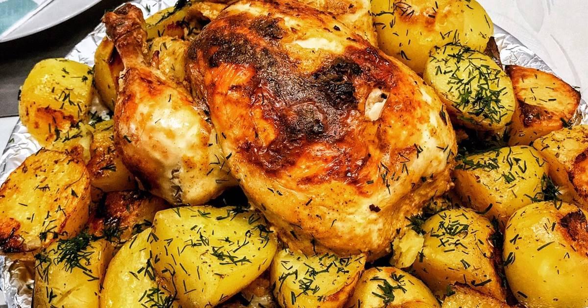Картошка с курицей как запекать в картинках суп