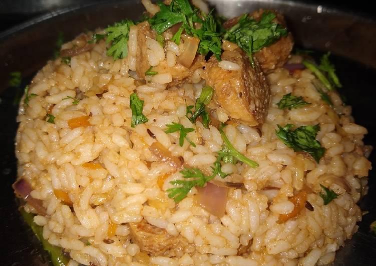 Soya chunk fried rice