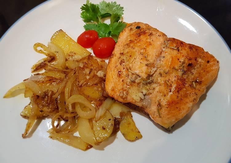 7 Resep: Rosemary salmon (easy) Anti Gagal!