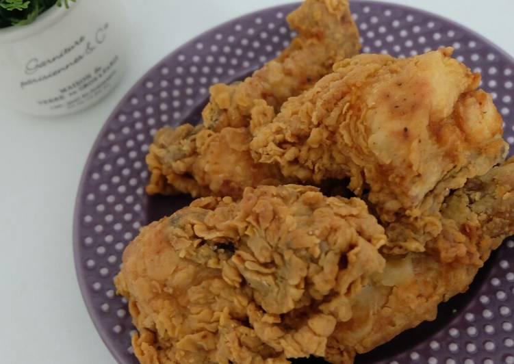 Resep Ayam Tepung Crispy SAJIKU oleh Adesyaa - Cookpad