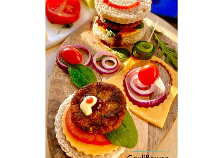 Cauliflower Burger  #NEWYEARNEWYOU