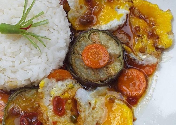 Telor Ceplok Mini & Sayuran Saus Tauco