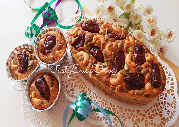 CARA MEMBUAT FRUIT CAKE KURMA Edisi Kue Lebaran #03