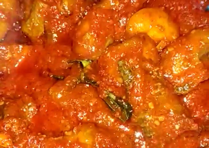 Ayam sambal saos tomat (menu wajib lebaran)