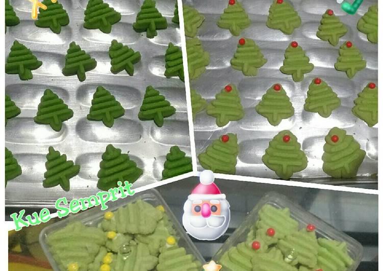 Kue Semprit -Christmas tree