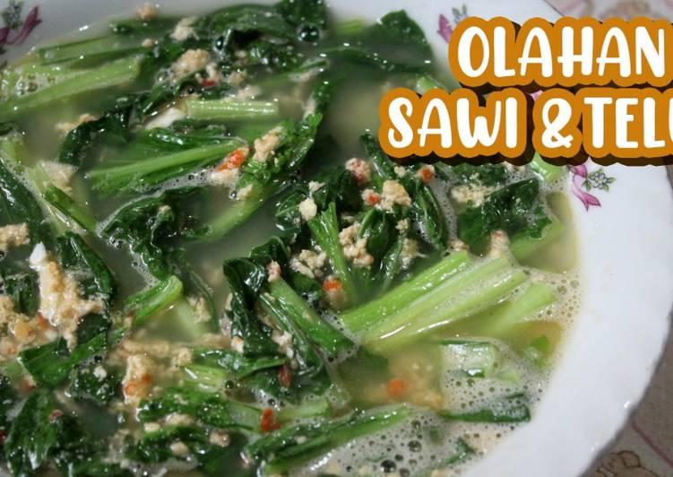 Resep Olahan Sawi Hijau & Telur