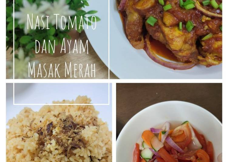 Nasi Tomato dan Ayam Masak Merah