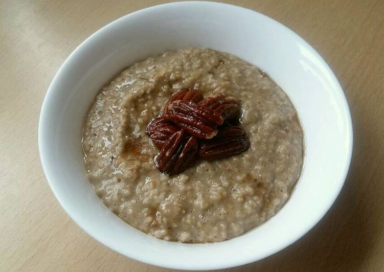 Steps to Prepare Quick Vickys Pumpkin Porridge with Maple Roasted Pecans GF DF EF SF