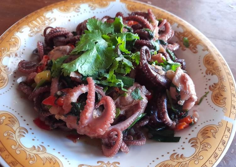 Baby octopus saus thailand