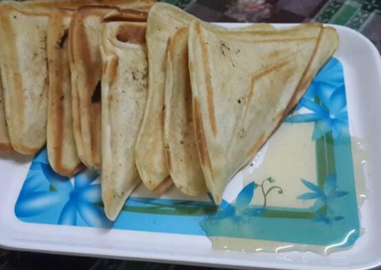 Steps to Make Quick Banana Pancake Sandwiches…#healthy junior
