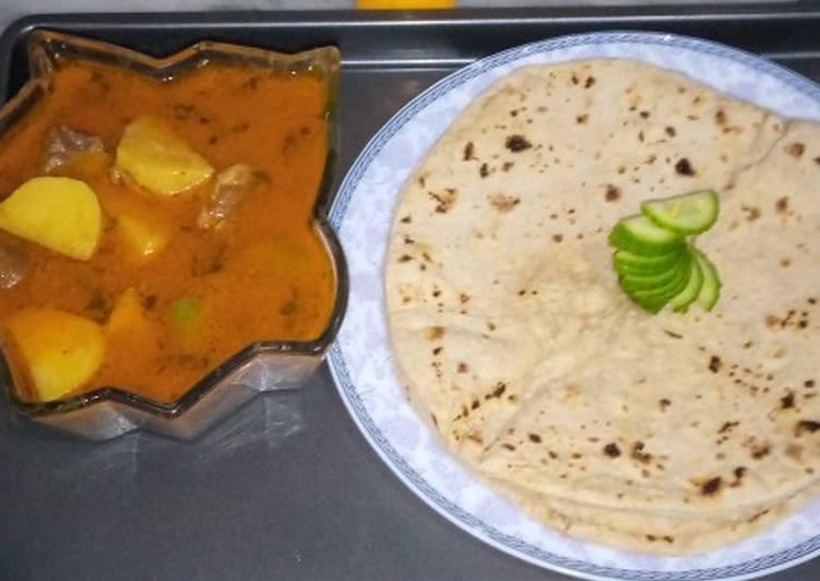 Easiest Way to Make Award-winning Aloo gosht with chapati