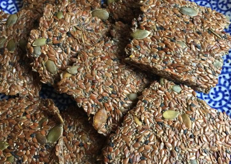 Simple Way to Prepare Super Quick Homemade Middle Eastern Flax Seed Crackers