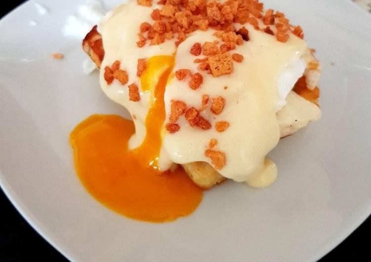 My poahed Egg, Hallumi and Bacon Crisp. 👍