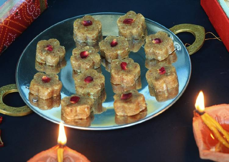 Recipe of Any-night-of-the-week Chirounji(charoli) ki barfi
